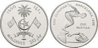 250 Rufiyaa 1990. MALEDIVEN Republik. Polierte Platte  20,00 EUR  plus 6,70 EUR verzending