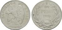 1 Peso 1905. CHILE Republik. Sehr schön +  25,00 EUR  plus 6,70 EUR verzending