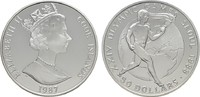 50 Dollars 1987. COOK ISLANDS Elizabeth II. seit 1952. Polierte Platte  20,00 EUR  plus 6,70 EUR verzending
