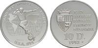 10 Deniers 1993. ANDORRA Parlamentarische Monarchie. Polierte Platte  20,00 EUR  plus 6,70 EUR verzending