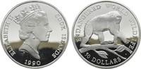 50 Dollars 1990. COOK ISLANDS Elizabeth II. seit 1952. Polierte Platte.  20,00 EUR  zzgl. 4,50 EUR Versand