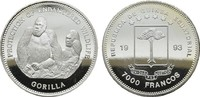 7.000 Francos 1993. ÄQUATORIAL GUINEA Republik seit 1968. Polierte Plat... 35,00 EUR  zzgl. 4,50 EUR Versand
