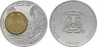 2000 Dobras - 1 Euro 1999. ST. THOMAS Republik seit 1975. Stempelglanz  20,00 EUR  Excl. 6,70 EUR Verzending