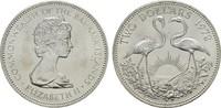 2 Dollars 1972. BAHAMAS Elizabeth II seit 1952. Stempelglanz  20,00 EUR  Excl. 6,70 EUR Verzending
