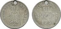10 Öre 1882. NORWEGEN Oskar II., 1872-1905. Gelocht.Sehr schön  20,00 EUR  zzgl. 4,50 EUR Versand