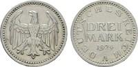 3 Reichsmark 1924, A. WEIMARER REPUBLIK  Vorzüglich -Sehr schön  45,00 EUR  zzgl. 4,50 EUR Versand