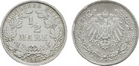 1/2 Mark 1906, F. Deutsches Reich  Vorzüglich  9,00 EUR  zzgl. 4,50 EUR Versand