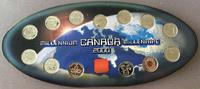 12 x 25 Cents + Medallion 2000. KANADA Elizabeth II. seit 1952. Poliert... 25,00 EUR  zzgl. 4,50 EUR Versand