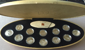 12 x 25 Cents 1999. KANADA Elizabeth II. seit 1952. Polierte Platte.  107,00 EUR  zzgl. 4,50 EUR Versand