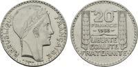 20 Francs 1938. FRANKREICH 5. Republik, seit 1958. Sehr schön-vorzüglic... 8,00 EUR  zzgl. 4,50 EUR Versand