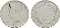 2 Francs 1911. A. BELGIEN Albert I., 1909-1934. Fleckig. Sehr schön.  6,00 EUR  zzgl. 4,50 EUR Versand