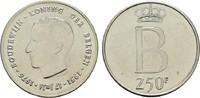 250 Francs 1976. BELGIEN Baudouin I., 1951-1993. Fast Stempelglanz.  15,00 EUR  zzgl. 4,50 EUR Versand