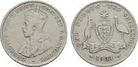 Florin (2 Shillings) 1931. AUSTRALIEN George V, 1910-1936. Sehr schön  10,00 EUR  Excl. 7,00 EUR Verzending