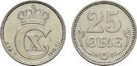 25 Öre 1919. DÄNEMARK Christian X., 1912-1947. Stempelglanz  10,00 EUR  Excl. 7,00 EUR Verzending