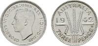 3 Pence 1942. AUSTRALIEN George VI, 1936-1952. Vorzüglich  30,00 EUR  Excl. 7,00 EUR Verzending