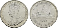 1 Dollar 1936. KANADA George VI, 1936-1952. Fast Stempelglanz.  22,00 EUR  Excl. 7,00 EUR Verzending