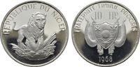 10 Francs 1968 NIGER Republik. Polierte Platte  32,00 EUR  zzgl. 4,50 EUR Versand