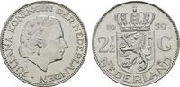 2 1/2 Gulden 1959 NIEDERLANDE Juliana, 1948-1980. Sehr schön +  8,00 EUR  zzgl. 4,50 EUR Versand
