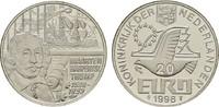 Medaille auf 20 Euro 1998 NIEDERLANDE Beatrix, 1980-2013. Polierte Platte  9,00 EUR  zzgl. 4,50 EUR Versand