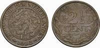 Ku.-2 1/2 Cent 1912. NIEDERLANDE Wilhelmina, 1890-1948. Vorzüglich.  30,00 EUR