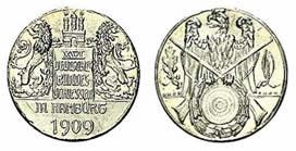 Medaille 1909 Hamburg Medaille vz