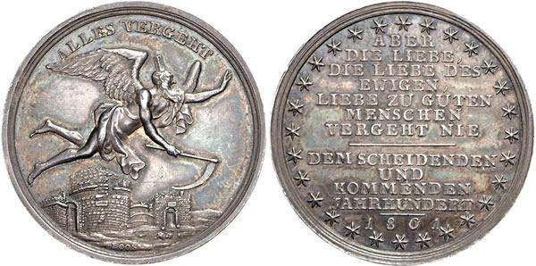 Medaille 1801 Liebe und Ehe Medaille 1801 vz-st