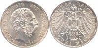 2 Mark 1902 Sachsen 2 Mark 1902 E vz - st  132,00 EUR  zzgl. 7,00 EUR Versand