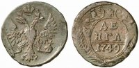 Russland  1749 ss Medaille Elisabeth 1749