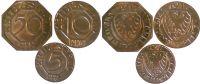 Satz RAR 1917 Dortmund 5, 10 und 50 Pfennig 1917 MESSING vz-st  478,00 EUR  zzgl. 7,00 EUR Versand