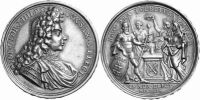 Sachsen-Albertinische Linie Medaille 1691 ...