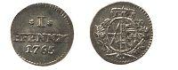 Pfennig 1765 Sachsen-Albertinische Linie 1 Pfennig 1765 C prägefrisch  101,00 EUR  zzgl. 7,00 EUR Versand