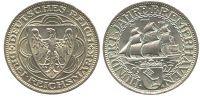3 Reichsmark 1927 J. 325 - 3 Mark 3 Reichsmark 1927 A vz+  181,00 EUR  zzgl. 7,00 EUR Versand