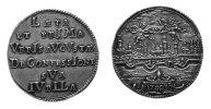 Silberabschlag 1730 Augsburg, Stadt, Silberabschlag v. Dukaten 1730, vz  121,00 EUR
