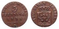 3 Pfennig 1838 A Preußen, Friedrich Wilhelm III., 3 Pfennig, 1838A, Pre... 104,00 EUR  zzgl. 7,00 EUR Versand