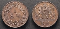 Schußmarke o. J. Bremen 1 S. M. prägefrisch  82,00 EUR  zzgl. 7,00 EUR Versand