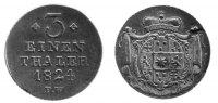 1/3 Taler 1824 Waldeck  fast vz  176,00 EUR