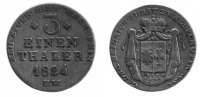 1/3 Taler 1824 Waldeck  ss  170,00 EUR
