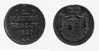 2 Mariengroschen 1820 Waldeck  ss-vz  88,00 EUR inkl. gesetzl. MwSt., zzgl. 7,00 EUR Versand