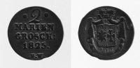 2 Mariengroschen 1825 Waldeck  ss  44,00 EUR inkl. gesetzl. MwSt., zzgl. 7,00 EUR Versand