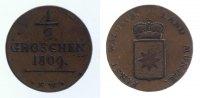 Waldeck 1/2 Groschen 1809 ss  99,00 EUR inkl. gesetzl. MwSt.,  zzgl. 7,00 EUR Versand