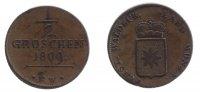 Waldeck 1/2 Groschen 1809 ss+  110,00 EUR inkl. gesetzl. MwSt.,  zzgl. 7,00 EUR Versand