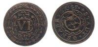 6 Pfennig 1625 Osnabrück, Std.  ss, kleiner Randfehler, selten  77,00 EUR
