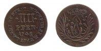 Münster, Bistum 4 Pfennig 1748 ss+  14,00 EUR inkl. gesetzl. MwSt.,  zzgl. 7,00 EUR Versand