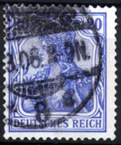 20 Pfennig 1902 Deutsches Reich Deutsches Reich, Mi.-Nr. 72 b, Freimarken:Germania, geprüft gestempelt
