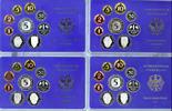 BRD 4 x 10,68 DM Kursmünzensatz BRD Jahrgang 1989 komplett (D, F, G, J), PP