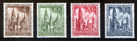 Berlin 4 Werte, 4 Pf bis 30 Pf Berlin, Mi-Nr. 106-09, <i>Wiederaufbau der Kaiser-Wilhelm-Gedchtniskirche</i>