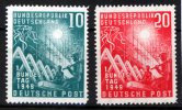 BRD 2 Werte, 10 bis 20 Pfennig BRD, Mi.-Nr. 111-112, <i>Erffnung des ersten Deutschen Bundestages</i>