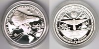 "Marshallinseln 50 Dollars Marshall Islands, 50 Dollars, silver coin ""John Glenn in space orbit"","
