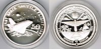 "Marshallinseln 50 Dollars Marshall Islands, silver coin ""first space shuttle flight 1981"", proof"
