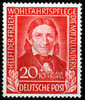 BRD 20 Pfennig BRD, Mi.-Nr. 119, <i>Wohlfahrt: Helfer der Menschheit</i>